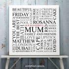 Personalised 'Mum's Favourites' Square Print